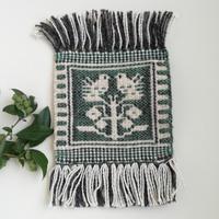 ヤノフ村の織物 コースター 鳥と木(16×16cm)