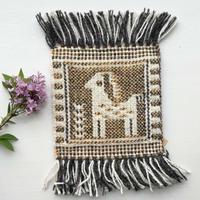 ヤノフ村の織物 たたずむ鹿 コースター(16×16cm)