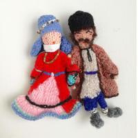 ターニャの指人形 タジキスタンの民族衣装を着た男女