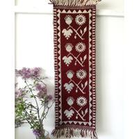 ヤノフ村の織物 タペストリー 葡萄の実と花と葉(27×75cm) #2367