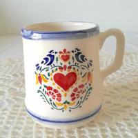 フォルミガ工房 型染めの大きなマグカップ:ハート