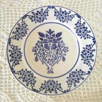 フォルミガ工房 型染めディナープレート:ブルー・アルテ・ノヴァ
