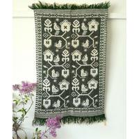 ヤノフ村の織物 タペストリー 伝統的な花と鳥(51×77cm)#2120