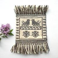 ヤノフ村の織物 コースター 向かいあう鳥(16×16cm)
