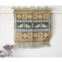 ヤノフ村の織物 タペストリー 鳥と幾何学模様(51×44cm) #2360