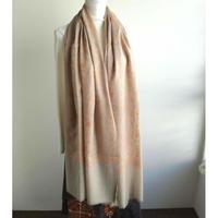 ソズニ刺繍のウールストール:ベージュ