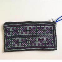 ラオス ヤオ族の手刺繍ポーチ C
