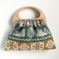 ヤノフ村の織物 グラニーバッグ 鳥と幾何学模様  #2440