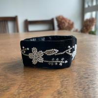 ポーランド ウォヴィチ刺繍 ブレスレット 白系  B