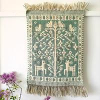 ヤノフ村の織物 タペストリー 生命の木(44×58cm)#2359