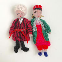 ターニャの指人形 アゼルバイジャンの民族衣装を着た男女