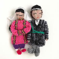 ターニャの指人形 トルクメニスタンの民族衣装を着た男女