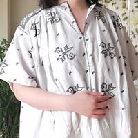 ルーマニア グレーの刺繍ワンピース  半袖