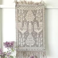 ヤノフ村の織物 タペストリー 森の中の七面鳥(36×58cm)#2357