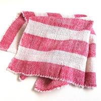 タイ・ルー族の手織りコットン ましかく大判タオル E