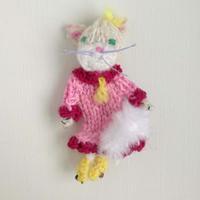 ターニャの指人形 ローラースケートを履いた猫