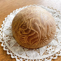 メキシコ 手彫りのヒカラのカップ・大