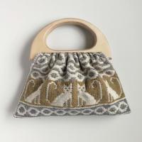 ヤノフ村の織物 グラニーバッグ  猫と幾何学模様 #2427
