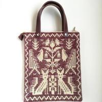 ヤノフ村の織物 ミニトートバッグ  動物と幾何学模様  #2391