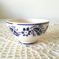 フォルミガ工房 型染めボウル Sサイズ:青い花