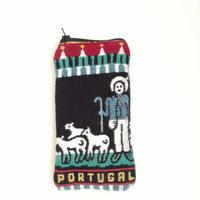 ポルトガル ご当地ファスナーポーチ 縦長 羊飼い