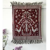 ヤノフ村の織物 タペストリー 生命の木(45×54cm)#2410