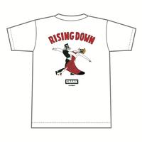 RISING DOWN Tシャツ [カラー:ホワイト]