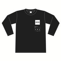 """""""GND"""" ロングスリーブTシャツ [カラー:ブラック]"""