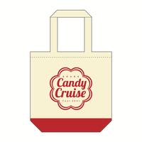 Candy Cruiseロゴ トートバッグ [カラー:ナチュラル×レッド]