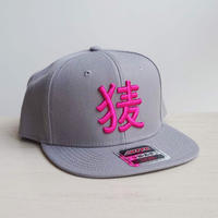 BakEra バクロゴキャップ Gray × Pink【OTTO Snap】