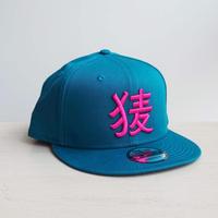 BakEra バクロゴキャップ Turquoise × Pink【NewEra 9 FIFTY】