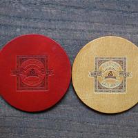 南牟婁珈琲 ロゴ型押し革コースター