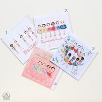 グリーティングカード「バレリーナフレンズ」(本体価格:¥390)