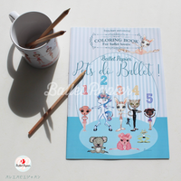 COLORING BOOK 'PETS DO BALLET' ぬりえ