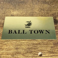 BALL TOWN ステッカー GOLD