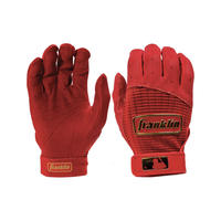 (Adult)Franklin Pro Classic Batting Gloves RED/GOLD  (本革🐂)