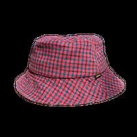 Afends Highland  Check Bucket Hat