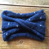 手編みヘアバンド