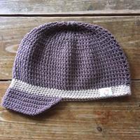 手編みコットンキャスケット