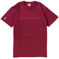 EMBROIDERY HEAVY S/S TEE (BURGUNDY)
