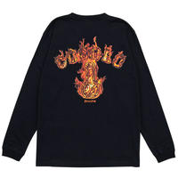RED FIRE BONG L/S(BLACK)