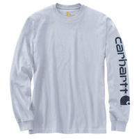 Carhartt K231 Graphic Logo Long Sleeve T-Shirts - LT.BLUE-