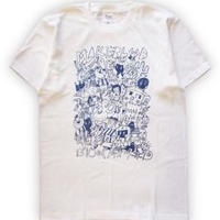 DISKAH × BLOCK BASTA / MAKE THE BLOOD S/S Tee . White