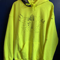 """Adult S kipper"" 8oz hoodie (yellow) -size L only-"