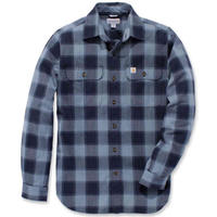 CARHARTT / Rugged Flex® Hamilton Flannel Plaid Shirt  -Blue-