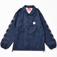 SLEEVE BONG COACH JACKET(NAVY)