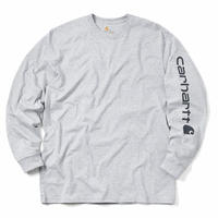 Carhartt K231 Graphic Logo Long Sleeve T-Shirts -Gray-