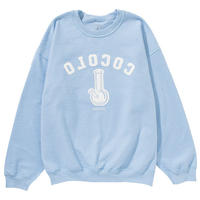FLIP SIDE CREWNECK SWEAT(LIGHT BLUE)