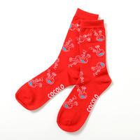 ROUGH BONG SOCKS (RED)