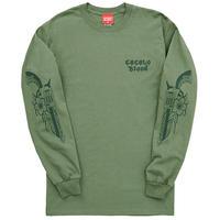 GUN L/S TEE (ARMY GREEN)